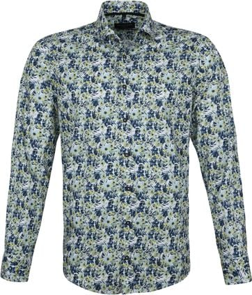 Casa Moda Organic Casual Shirt Flowers Green