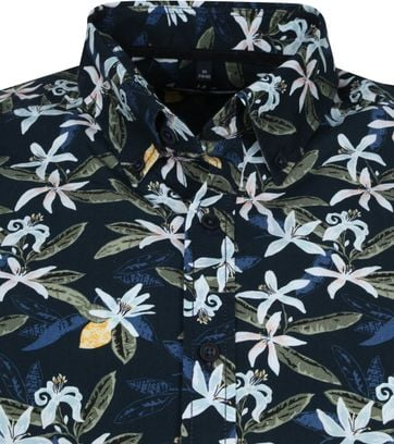 Casa Moda Organic Casual Shirt Flowers Navy
