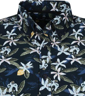 Casa Moda Organic Overhemd Bloemen Donkerblauw