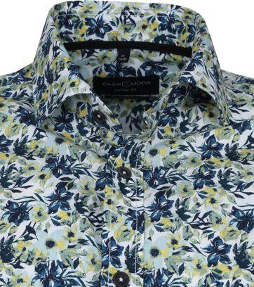 Casa Moda Organic Overhemd Bloemen Groen
