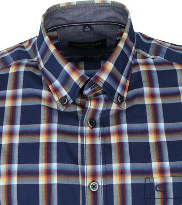 Casa Moda Overhemd Ruiten Donkerblauw