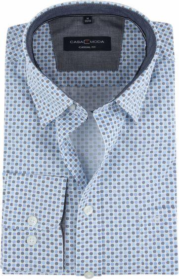 Casa Moda Overhemd Stippen Blauw