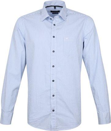 Casa Moda Overhemd Strepen Blauw