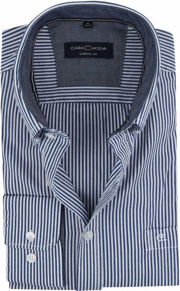 Casa Moda Overhemd Strepen Navy