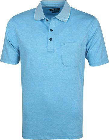 Casa Moda Polo Shirt Aqua