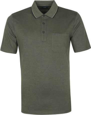 Casa Moda Polo Shirt Dark Green Melange