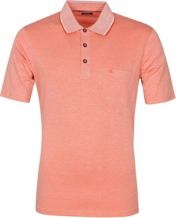 Casa Moda Polo Shirt Orange Melange