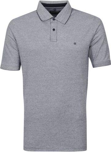 Casa Moda Polo Shirt Stretch Melange Dark Blue