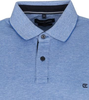 Casa Moda Polo Stretch Blauw