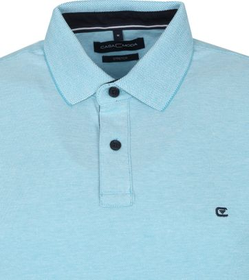 Casa Moda Polo Stretch Turquoise