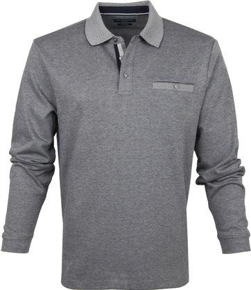 Casa Moda Poloshirt LS Dark Grey