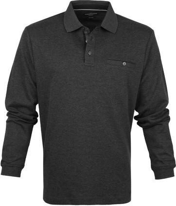 Casa Moda Poloshirt LS Dunkel Grau