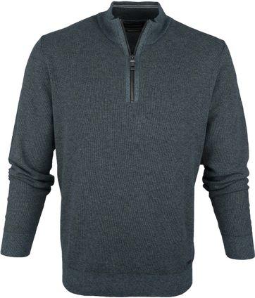 Casa Moda Pullover Half Zip Aqua