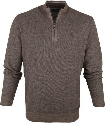 Casa Moda Pullover Half Zip Beige