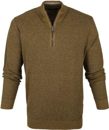 Casa Moda Pullover Half Zip Gelb
