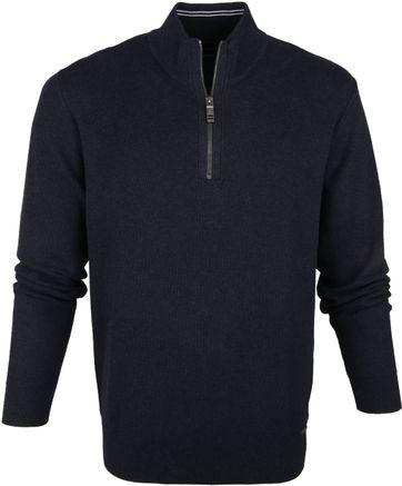 Casa Moda Pullover Half Zip Navy