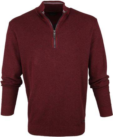 Casa Moda Pullover Half Zip Red
