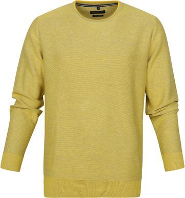 Casa Moda Pullover O-Halsausschnitt Gelb
