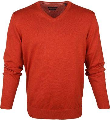 Casa Moda Pullover V-Halsausschnitt Orange