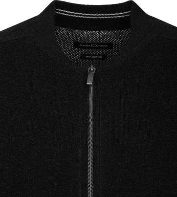 Casa Moda Pullover Zip Black