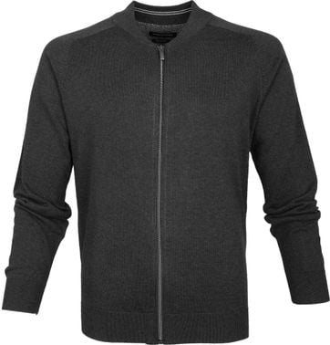 Casa Moda Pullover Zip Dark Grey