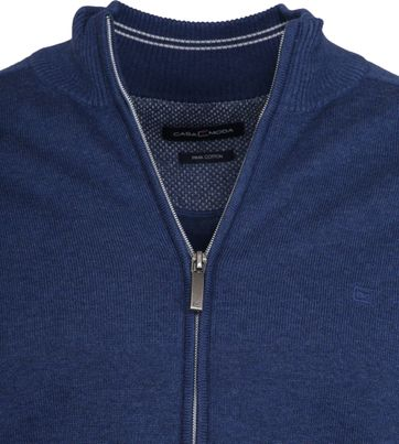Casa Moda Zip Cardigan Blue