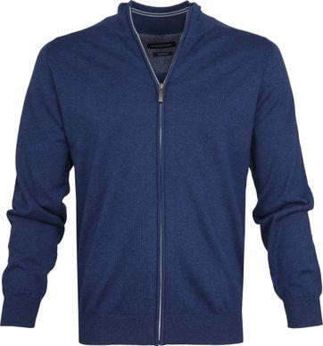 Casa Moda Zip Vest Blauw