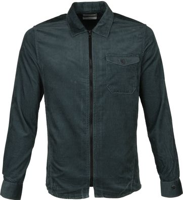 Cast Iron Corduroy Overshirt Dark Green