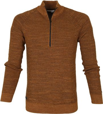Cast Iron Half Zip Pullover Brown