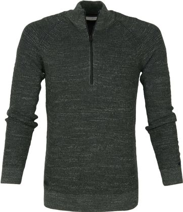 Cast Iron Half Zip Pullover Green