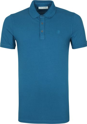 Cast Iron Polo Shirt Blauw