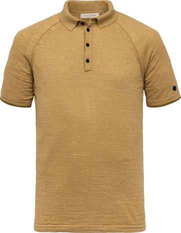 Cast Iron Polo Shirt Melange Brown