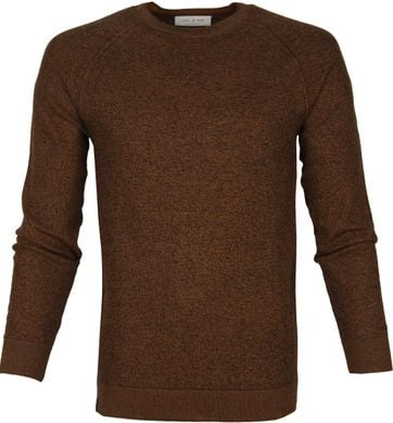 Cast Iron R-Neck Sweater Braun