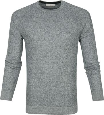 Cast Iron R-Neck Sweater Grau