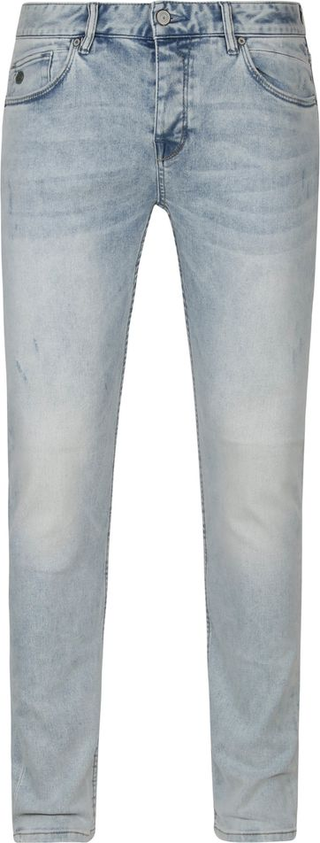 Cast Iron Riser Jeans Light Grey Bright Wash