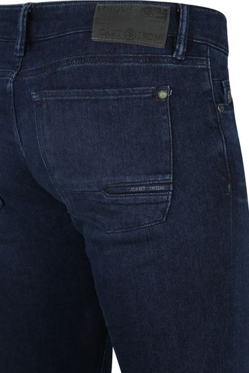 Cast Iron Riser Jeans Light-Washed Dunkelblau