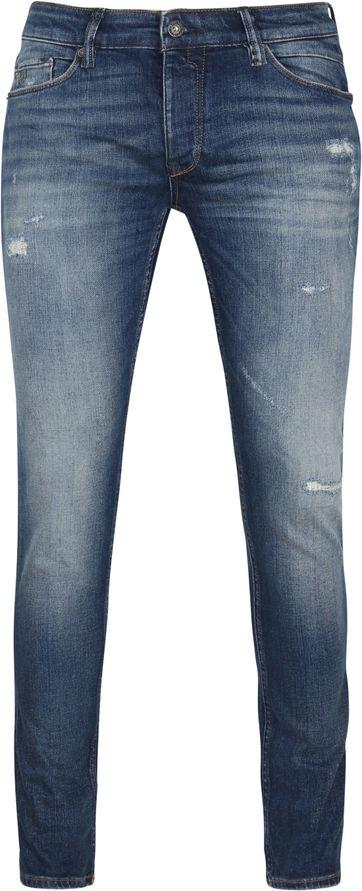 Cast Iron Riser Jeans Repair Blau