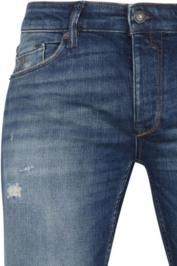 Cast Iron Riser Jeans Repair Blauw