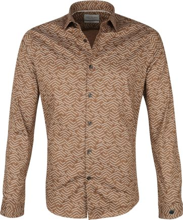Cast Iron Shirt Print Brown