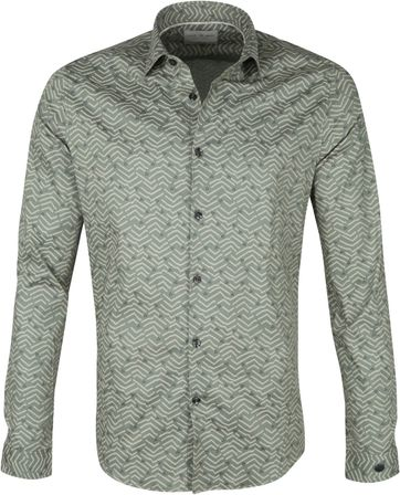 Cast Iron Shirt Print Green
