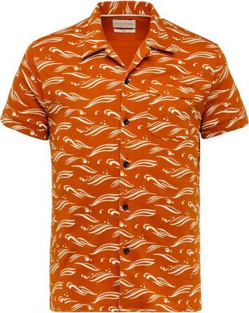 Cast Iron Shirt Short Sleeve Wave Brown Brique
