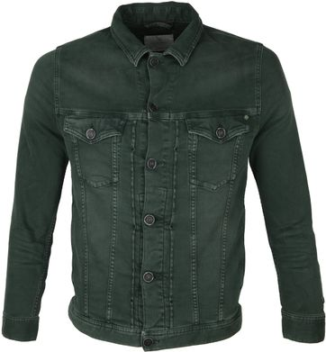 Cast Iron Spijkerjack Denim Dark Green