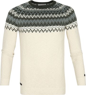 Cast Iron Sweater Beige Green