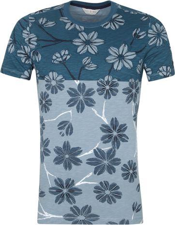 Cast Iron T-Shirt Bloemen Groen
