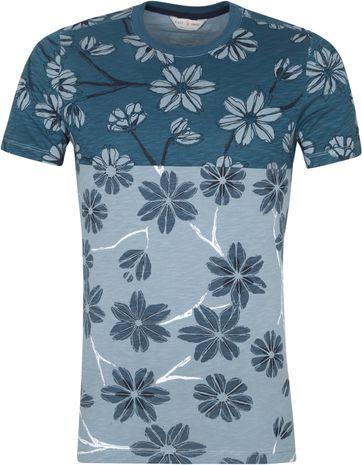 Cast Iron T Shirt Blumen Grun
