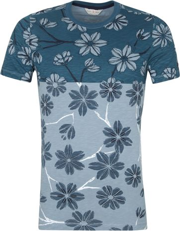 Cast Iron T Shirt Flowers Green