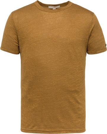 Cast Iron T Shirt Leinen Braun