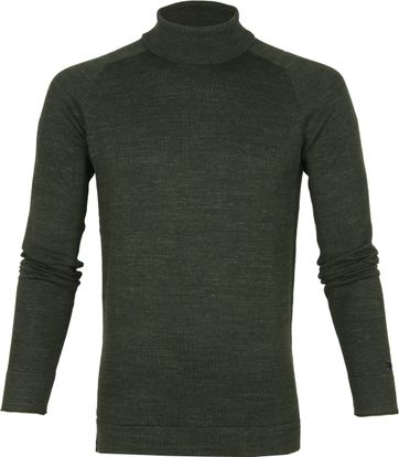 Cast Iron Turtleneck Dark Green