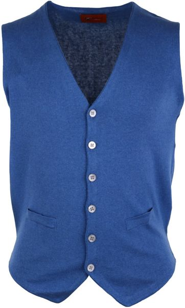 Casual Gilet Blauw