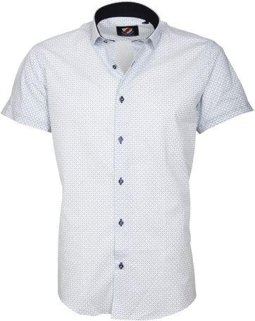 Casual Hemd S5-2 Weiß Blau